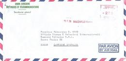 Congo 1979 Brazzaville Meter Havas M 10204 EMA Cover - Afgestempeld