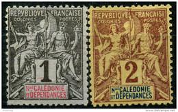 Nouvelle Caledonie (1892) N 41 + 42 * (charniere) - Unused Stamps