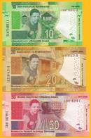 South Africa Set 10, 20, 50 Rand P-new 2018 Commemorative Nelson Mandela UNC - Afrique Du Sud