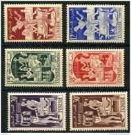 Tunisie (1955) N 396 à 401 * (charniere) - Tunisie (1888-1955)