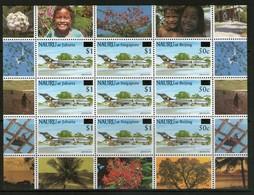 NAURU 1995 FEUILLET AVIONS SURCHARGE  YVERT  N°408/10  NEUF MNH** - Nauru