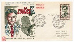 FDC 1957 - FRANCE - Héros De La Résistance Robert Keller YT 1200 Signé André Spitz ! (dessinateur) (Réf A0833) - FDC