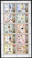 Sharjah 1972 Football (Jules Rimet Cup) Perf Set Of 10 U/m, Mi 1142-51A FOOTBALL SPORT FLAGS MAPS - Sharjah