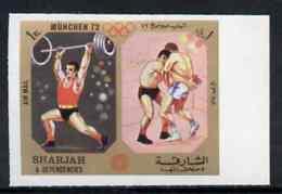 Sharjah 1972 Weightlifting & Wrestling (1R) From Olympic Sports Imperf Set Of 10 U/m, Mi 949B WEIGHTLIFTING    WRESTLING - Sharjah