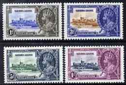 Sierra Leone 1935 KG5 Silver Jubilee Set Of 4, M/m SG 181-4 CASTLES - Sierra Leone (1961-...)