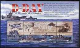 Sierra Leone 2004 60th  Anniv Of D-day Landings MILITARIA  WW2  TANKS AVIATION PARACHUTES SHIPS Perf M/sheet #4 8 X 1000 - Sierra Leone (1961-...)