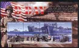 Sierra Leone 2004 60th  Anniv Of D-day Landings MILITARIA  WW2  TANKS SHIPS RED CROSS MEDICAL Perf M/sheet #5 8 X 1100L - Sierra Leone (1961-...)