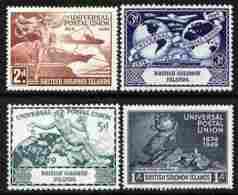 Solomon Islands 1949 KG6 75th  Anniv Of Universal Postal Union Set Of 4 U/m, SG 77-80 UPU - Solomon Islands (1978-...)
