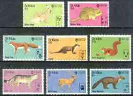 St Kilda 1970 Wildlife ANIMALS HARE SQUIRREL VOLE FOX DEER MARTEN OTTER CATS U/m Perf Set Of 8* - Local Issues