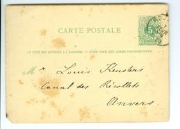 Carte Correspondance AS CàD Roulers Et Anvers 1880 F. X. Godts Entier Postal Postwaardestuk - Ganzsachen
