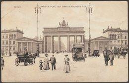 Pariser Platz Mit Brandenburger Tor, Berlin, 1913 - JWB Wenau-Gravüre AK - Brandenburger Door