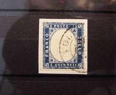 REGNO USATO 1863 CENT. 15 AZZURRO (K258) - 1861-78 Victor Emmanuel II