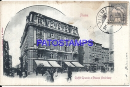 101061 ITALY FIUME HUNGARY CROATIA  CAFFEE GREAT & SQUARE CIRCULATED TO ARGENTINA POSTAL POSTCARD - Italie