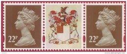 GB Machin Strip - 22p - Label - 22p  SG Y1774 - Litho Printing By Cartor UM/MNH - 1952-.... (Elizabeth II)
