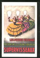 AK Les Petites Visseaux Present Leur Jeune Soeur La Supervisseaux, Reklame Für Lampen - Cartes Postales