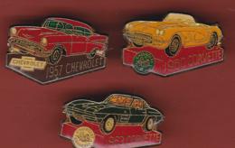 54264-lot De 3 Pin's..chevrolet.corvette - Badges