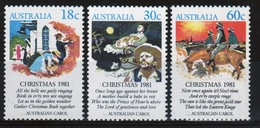 Australia 1981 Set Of Stamps To Celebrate Christmas. - 1980-89 Elizabeth II