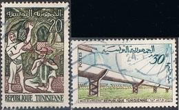 1959 - TUNISIA / TUNISIE - GIORNATA DELLA LIBERTA' DELL'AFRICA /  AFRICA FREEDOM DAY. USATO - Tunisia (1956-...)