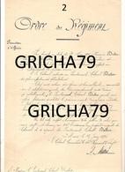 MANUSCRIT MILITAIRE - ORDRE DE REGIMENT - PROMOTION D OFFICIER - 104 REGIMENT INFANTERIE - Manuscripts