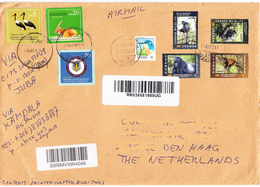 SOUTH SUDAN Postally Used Cover From South Sudan Via Uganda To The Netherlands #299 Südsudan Soudan Du Sud Stamps - Sudan Del Sud