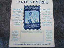 XVIIè Semaine De La Bijouterie Orfèvrerie De Fantaisie - CARTE D'ENTREE - 86, Rue Réaumur - Bijoux & Horlogerie