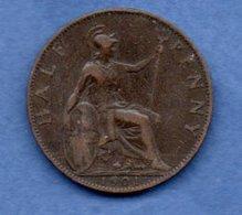 Grande Bretagne -  1/2 Penny 1901  - Km # 789  - état  TB - 1816-1901 : Frappes XIX° S.