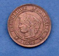 Cérès  -  2 Centimes 1896 A  -  état  TTB - France