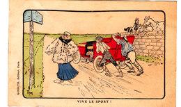 Thor Illustrateur. Editions Kossuth. Vive Le Sport. Personnages En Train De Pousser Une Voiture En Panne. - Illustratoren & Fotografen