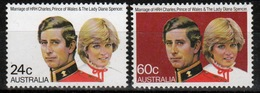 Australia 1981 Set Of Stamps To Celebrate Royal Wedding. - 1980-89 Elizabeth II