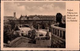 ! Alte Ansichtskarte Erfurt, Bahnhof, 1936, Maschinenwerbestempel Blumenstadt, Flower - Erfurt
