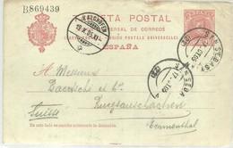E.P   1905 SAN SEBASTIAN  KALCHOFEN - Entiers Postaux