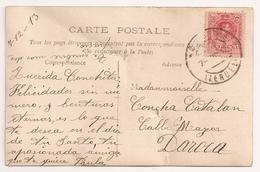 España, 1913, TERUEL DAROCA, Mujer En Blanco Y Negro - Cartas