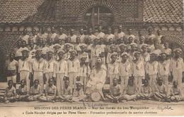 Congo 1925 Mission Des Pères Blancs Ecole Navale Lac Tanganika Maintenant Stationne En Algerie Carte Postale - Belgisch-Congo - Varia