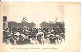 MARCHE DES MIDINETTES. 25/10/1903. LE DEPART DES TUILERIES - France