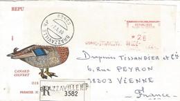 Congo 1980 Brazzaville Meter Havas M 10444 EMA Registered Cover - Afgestempeld