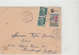 Moreuil Pour Edimbourg Avec Cachet Polonais Au Verso - Postmark Collection (Covers)