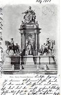 WIEN - Maria-Theresia-Monument, Zwischen  Kunst- U.Naturhistorisches Museum,  Herrscherdenkmal Der Habsburgmonarchie, - Vienna Center