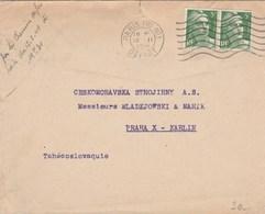 Lettre Pour La Tchécoslovaquie  Avec Gandon - Postmark Collection (Covers)