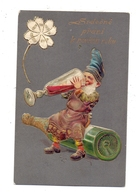 ZWERGE / Gnoms / Dwarfs / Dwergen / Nani / Nanos / Enanos - Champagner Trinkender Zwerg, Präge-Karte / Embossed / Relief - Other