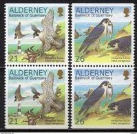 Alderney - 2000 - Yvert N° 146a & 147a **  - Faucon Pélerin - Alderney