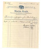 Rechnung Martin Koch, Lindau 1.1.1907 - Austria