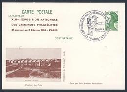 France Rep. Française 1985 Card / Karte / Carte Postale - Viaduc De Poix / Viadukt (1867, 246 Mtrs, Ligne Amiens - Rouen - Treinen