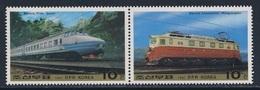 "Korea North 1987 Mi 2841 /2 Pair ** ""Juche"" High Speed Train + ""Mangyongdae"" Electric Locomotive / Lokomotive - Korea (Noord)"