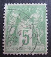 FD/2636 - SAGE TYPE II N°102 - CàD - Cote : 8,00 € - 1898-1900 Sage (Tipo III)