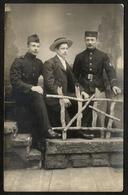 Photo Ancien / Men / Hommes / Elegant / Top Hat / Photographer François / Merksem / Antwerpen / Soldiers / Soldats - Photographie