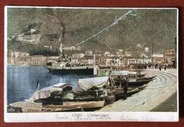 COLLETTORIA CADORAGO SU CARTOLINA COMO L'IMBARCADERO PER TORINO  4/3/1902 - 1900-44 Vittorio Emanuele III