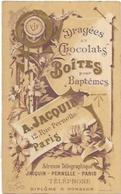 PUB CALENDRIERS DRAGEES CHOCOLATS A JACQUIN - Calendars