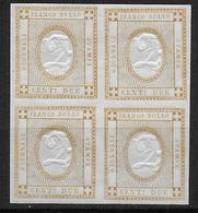 ITALIE - YVERT N°1 BLOC De 4 (GOMME ALTEREE MAIS SUPERBE) - COTE = 120+++++ EUR. - 1861-78 Victor Emmanuel II