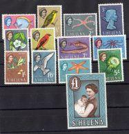 SAINTE-HELENE ( POSTE ) : Y&T  N°  141/154  SANS  LE  153  TIMBRES  NEUFS  AVEC  TRACE  DE  CHARNIERE . - Saint Helena Island
