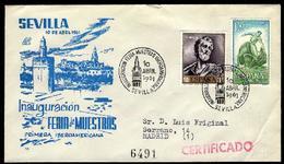 SOBRE Matasello Especial - 1961 - Inauguración Feria De Muestras Iberoamericana. SEVILLA - FDC